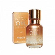 Масло для волос парфюмированное для питания, разглаживания и блеска Beaver Professional The Perfect Oil Hair Nourishing 24K