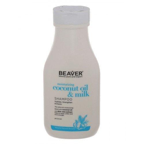 Шампунь для сухих волос с кокосовым маслом Beaver Professional Moisturizing Coconut Oil & Milk Shampoo, 60 мл