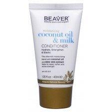 Кондиционер для сухих волос с кокосовым маслом Beaver Professional Moisturizing Coconut Oil & Milk Conditioner, 40 мл