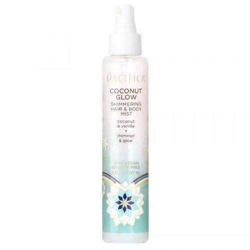 Сияющий спрей для волос и тела Pacifica Coconut Glow Shimmering Hair And Body Mist