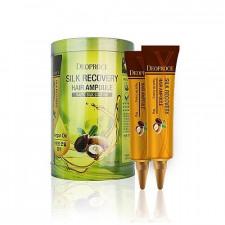 Восстанавливающая сыворотка для волос Deoproce Silk Recovery Hair Ampoule