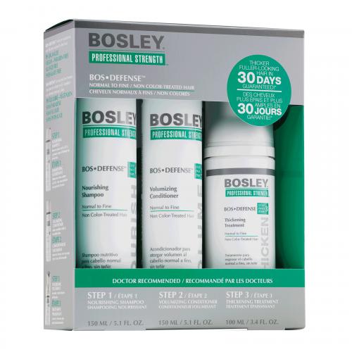 Набор для нормальных неокрашенных волос Bosley Bos Defense Starter Pack for Normal to Fine Non Color-Treated Hair
