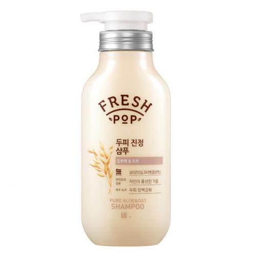 Укрепляющий и увлажняющий шампунь Fresh Pop Pure Aloe & Oat Shampoo