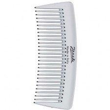Серебристый гребень для волос Janeke Pocket Comb Silver CR855