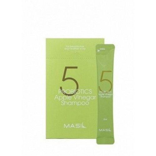 Мягкий бессульфатный шампунь с яблочным уксусом MASIL 5 Probiotics Apple Vinegar Shampoo Stick Pouch, 8 мл