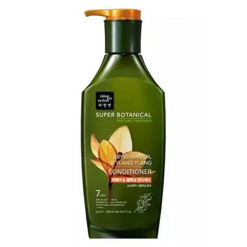 Восстанавливающий шампунь для волос Mise en Scene Super Botanical Abissinian Oil & Ylang Ylang Shampoo