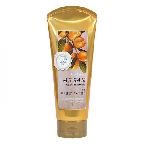 Увлажняющая маска для волос с аргановым маслом Welcos Confume Argan Gold Treatment