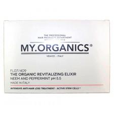 Набор шампунь и ампулы для укрепления волос My.Organics Revitalizing Shampoo and Revitalizing Elixir With Neem And PePeppermint
